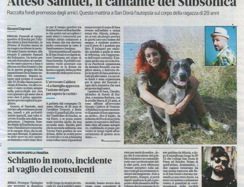 L'ultimo Saluto A Sara Al Campo Sportivo Atteso Samuel, Il Cantante Dei Subsonica
